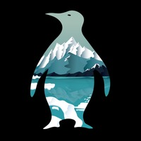 Double exposure penguin