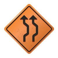 Double reverse curve sign