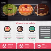 Doughnut website design