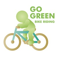 Ecology bike riding concept