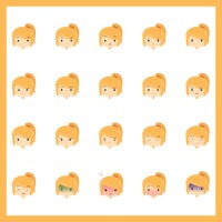 Emoticons of girl