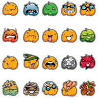 Emoticons of pumpkin