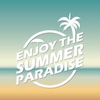 Enjoy the summer paradise wallpaper