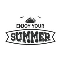 Enjoy your summer label
