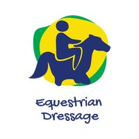 Equestrian dressage icon