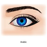 Eye with arabic
