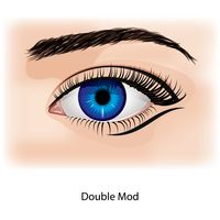 Eye with double mod