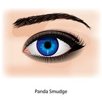 Eye with panda smudge