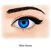 Eye with wine house