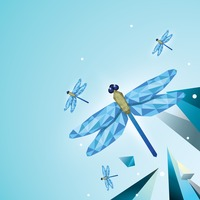 Faceted dragonflies