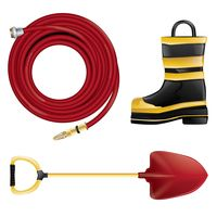 Firefighter equipment set