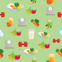 Fitness and health background