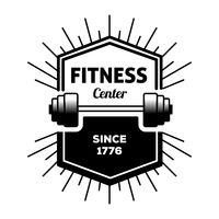 Fitness center label