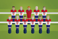 Foosball figurines represent croatia football team