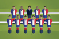 Foosball figurines represent france football team