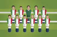 Foosball figurines represent italy football team
