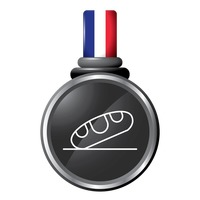 French bread in a medal