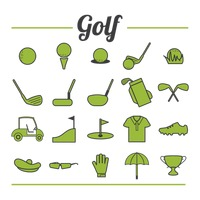 Golf icons collection