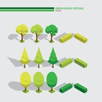 Green music festival trees