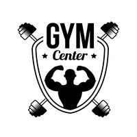 Gym center label