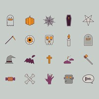 Halloween themed vectors