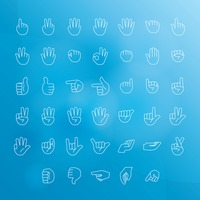 Hand signs icon