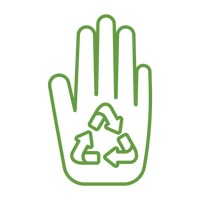 Hand with recycle symbol