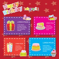 Happy birthday infographic