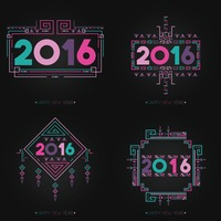 Happy new year 2016 set