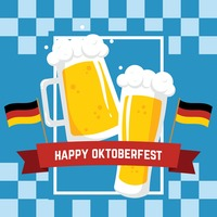Happy oktoberfest design