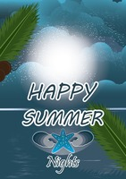 Happy summer nights poster