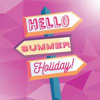 Hello summer holiday card