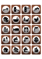 Home and interior icons