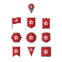 Hong kong flag set