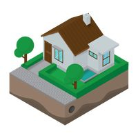House isometric design