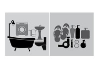 Household objects and toiletries