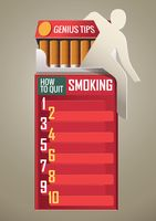 How to quit smoking poster design