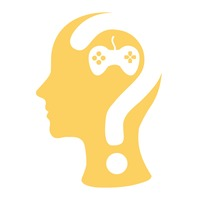 Human head with question mark and a joystick