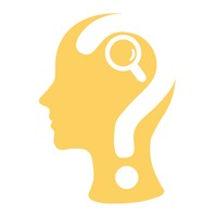 Human head with question mark and magnifier