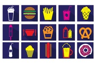 Illustrations of fast food