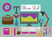 Illustrations of office items