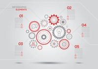 Infographic elements with cogwheels