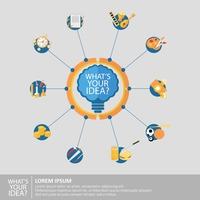 Infographic of idea concept
