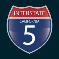 Interstate california 5 route sign