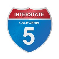 Interstate california 5 sign