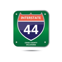 Interstate forty four route sign