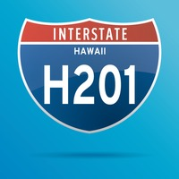 Interstate hawaii two hundrend one route sign