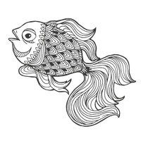 Intricate fish design