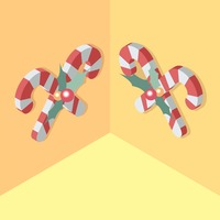 Isometric candy canes