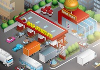Isometric gas station